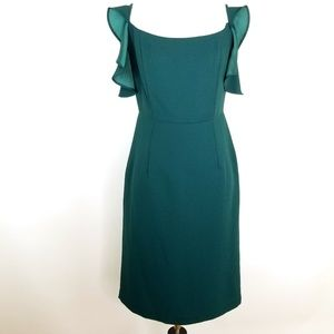 Nanette Lepore Ruffle Sleeve Trim Dress Size 2